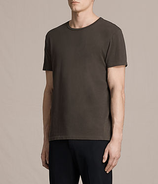 Hommes Octam Crew T-Shirt (Khaki Brown) - product_image_alt_text_2