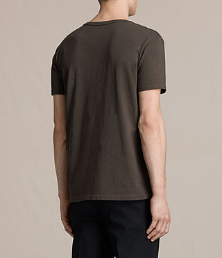 Hommes Octam Crew T-Shirt (Khaki Brown) - product_image_alt_text_3