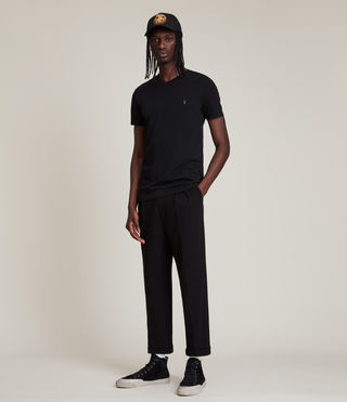 Hombres Camiseta Tonic V-neck (Jet Black) - product_image_alt_text_3