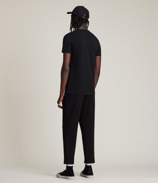 Mens Tonic V-neck T-Shirt (Jet Black) - product_image_alt_text_4