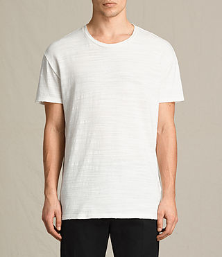 Men's Tyed Crew T-Shirt (Chalk White) -