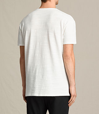 Men's Tyed Crew T-Shirt (Chalk White) - product_image_alt_text_4
