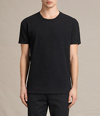 Mens Tyed Crew T-Shirt (Jet Black) - product_image_alt_text_1