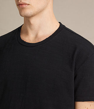 Hombres Camiseta Tyed (Jet Black) - product_image_alt_text_2