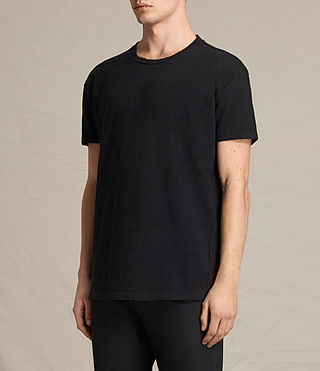 Hombres Camiseta Tyed (Jet Black) - product_image_alt_text_3