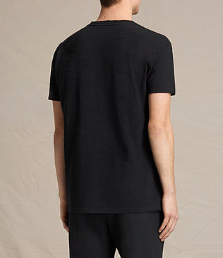 Hombres Camiseta Tyed (Jet Black) - product_image_alt_text_4