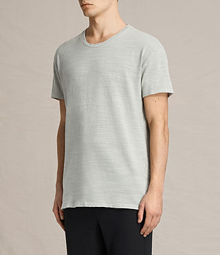 Hombres Tyed Crew T-Shirt (STONE GREEN) - product_image_alt_text_2