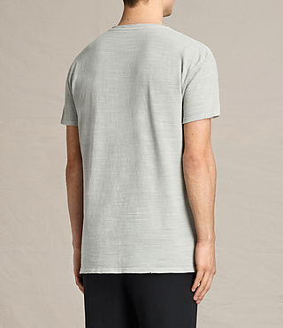 Hombres Tyed Crew T-Shirt (STONE GREEN) - product_image_alt_text_3