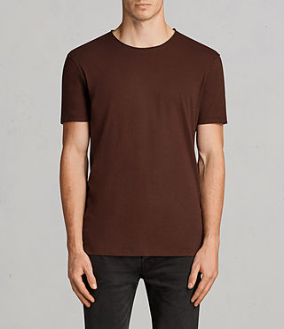 Hommes T-Shirt Figure (BURNT RED) - Image 1