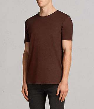 Hommes T-Shirt Figure (BURNT RED) - Image 3