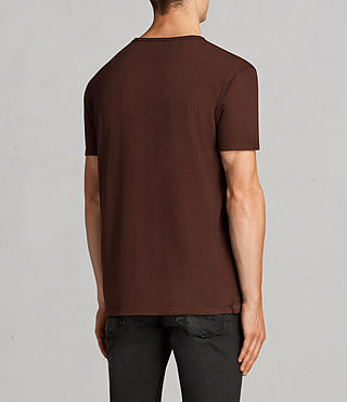 Hommes T-Shirt Figure (BURNT RED) - Image 4