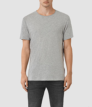Hommes Galaxy Crew T-Shirt (Grey Marl)
