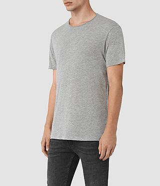 Hommes Galaxy Crew T-Shirt (Grey Marl) - product_image_alt_text_2