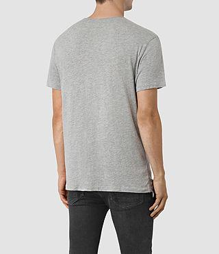 Hommes Galaxy Crew T-Shirt (Grey Marl) - product_image_alt_text_3