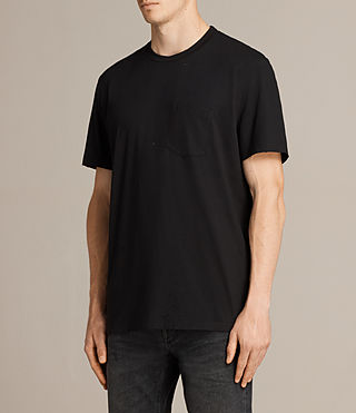 Men's Torr Crew T-Shirt (Jet Black) - product_image_alt_text_3