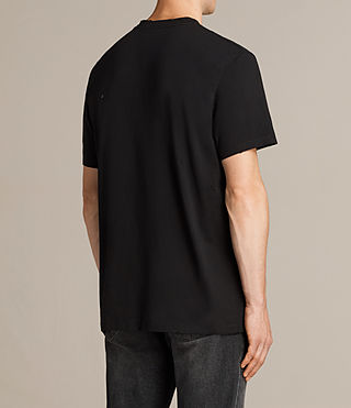 Men's Torr Crew T-Shirt (Jet Black) - product_image_alt_text_4