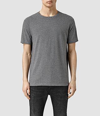 Mens Crowd Crew T-Shirt (Charcoal/Black)