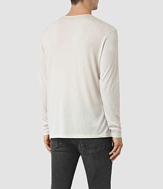 Uomo Galaxy Long Sleeve Crew T-Shirt (Powder White) - product_image_alt_text_3