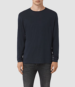 Hommes Galaxy Long Sleeve Crew T-Shirt (INK NAVY)