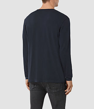 Hommes Galaxy Long Sleeve Crew T-Shirt (INK NAVY) - product_image_alt_text_3