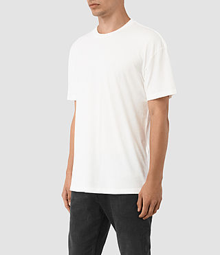Hommes Jovian Crew T-Shirt (Chalk White) - product_image_alt_text_2