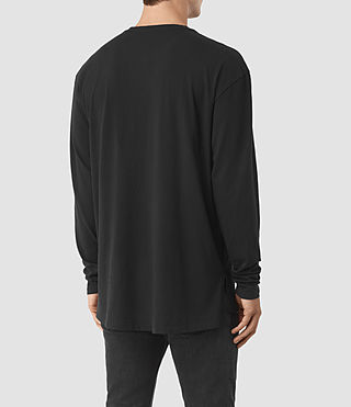 Uomo Jovian Long Sleeve Crew T-Shirt (Vintage Black) - product_image_alt_text_3