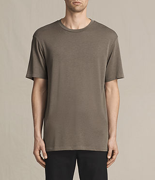 Mens Mars Crew T-Shirt (Washed Khaki)