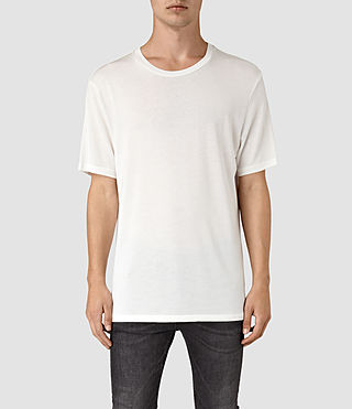 Mens Mars Crew T-Shirt (Chalk White) - product_image_alt_text_1