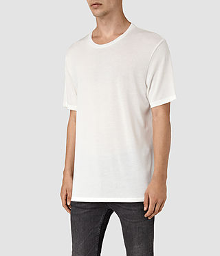 Mens Mars Crew T-Shirt (Chalk White) - product_image_alt_text_2