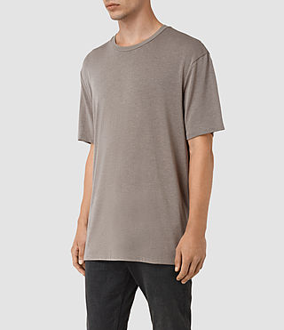 Hombres Mars Crew T-Shirt (Putty Brown) - product_image_alt_text_2