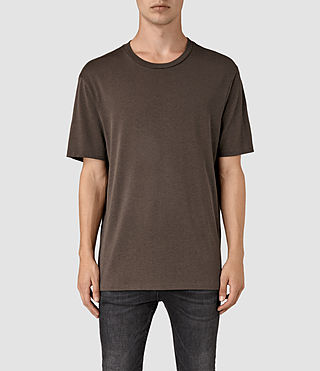 Hombres Mars Crew T-Shirt (Pewter Brown) -