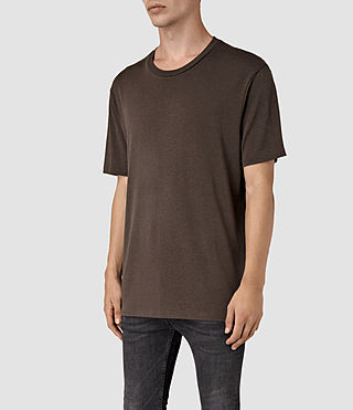 Mens Mars Crew T-Shirt (Pewter Brown) - product_image_alt_text_2
