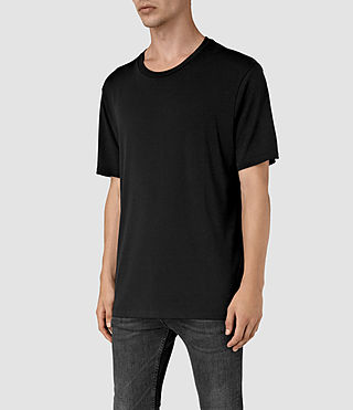 Mens Mars Crew T-Shirt (Black) - product_image_alt_text_2