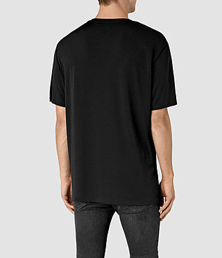 Mens Mars Crew T-Shirt (Black) - product_image_alt_text_3