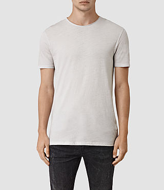 Hommes Figure Crew T-Shirt (Ash Grey)