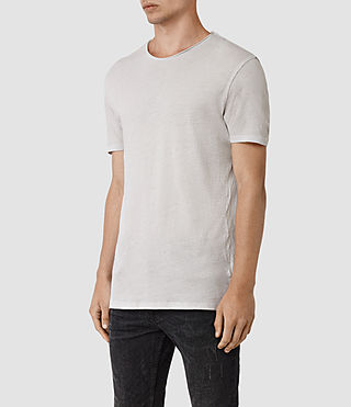 Men's Figure Crew T-Shirt (Ash Grey) - product_image_alt_text_2