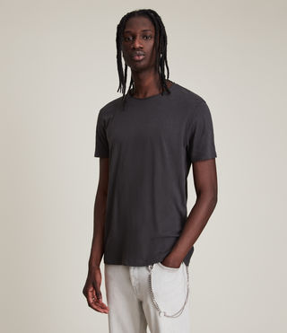 Mens Figure Crew T-Shirt (Washed Black)