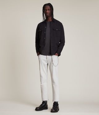 Men's Figure Crew T-Shirt (Washed Black) - product_image_alt_text_3