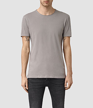 Mens Figure Crew T-Shirt (Putty Grey) - product_image_alt_text_1