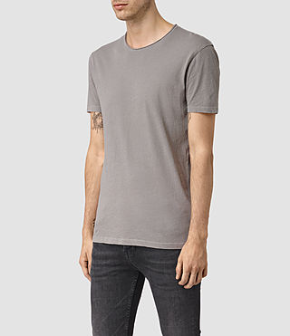 Mens Figure Crew T-Shirt (Putty Grey) - product_image_alt_text_2