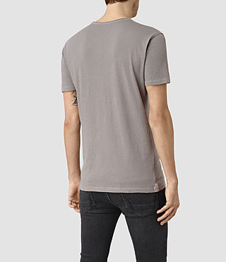 Mens Figure Crew T-Shirt (Putty Grey) - product_image_alt_text_3