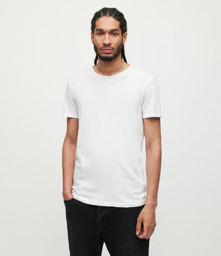 Hommes Figure Crew T-shirt (Optic White)