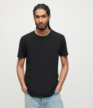 Mens Figure Crew T-Shirt (Jet Black) - product_image_alt_text_1
