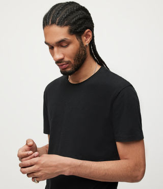 Uomo T-shirt Figure Crew (Jet Black) - product_image_alt_text_2