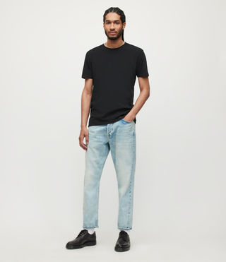 Uomo T-shirt Figure Crew (Jet Black) - product_image_alt_text_3