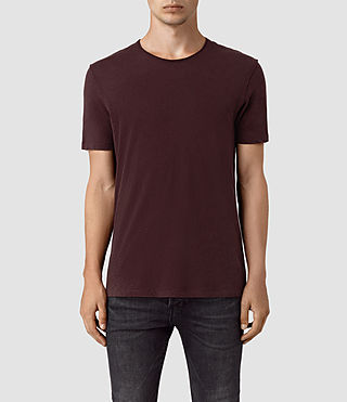 Hombre Figure Crew T-Shirt (Damson Red) - product_image_alt_text_1