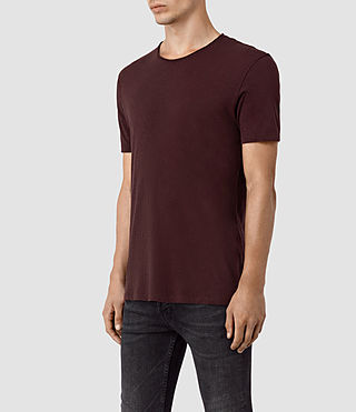 Uomo Figure Crew T-Shirt (Damson Red) - product_image_alt_text_2