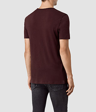 Uomo Figure Crew T-Shirt (Damson Red) - product_image_alt_text_3