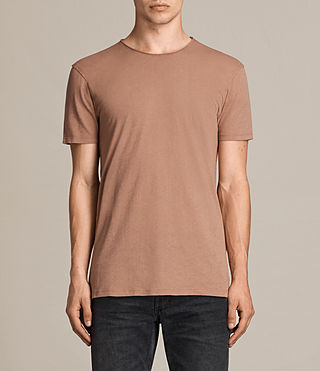 Mens Figure Crew T-Shirt (CLAY RED) - product_image_alt_text_1