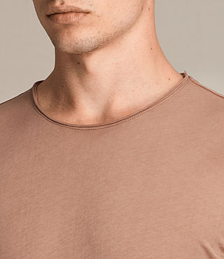 Men's Figure Crew T-Shirt (CLAY RED) - product_image_alt_text_2
